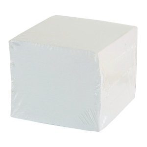 PAPER CUBE 8.5X8.5X7CM WHITE
