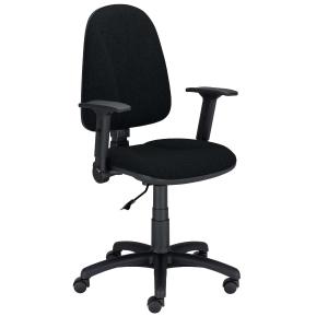 Krzesło NOWY STYL Premium Ergo ze stałymi podłokietnikami, czarne