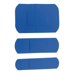 Zestaw plastrów wykrywalnych PROHACCP, niebieskie, 4 rozmiary, 100 sztuk