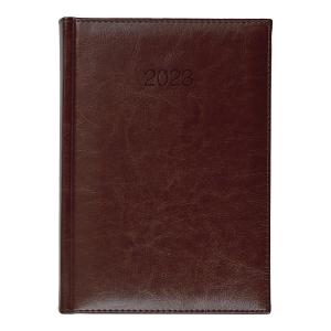 Kalendarz CRUX Balado, A5, dzienny, brązowy