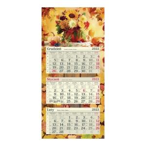 Kalendarz trójdzielny CRUX, płaski, słoneczniki