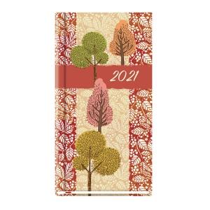 Kalendarz Michalczyk&Prokop, A6, kieszonkowy, różowy w kwiaty