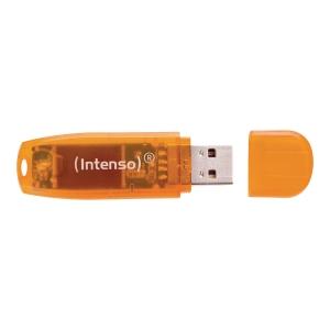 Pendrive Intenso USB 2.0, 64 GB , pomarańczowy
