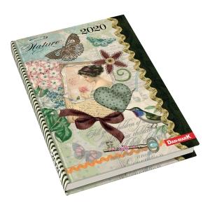 Kalendarz DAN-MARK Art A5, dzienny, w motyle i ptaki