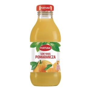 Sok pomarańczowy FORTUNA, 15 butelek x 0,3 l