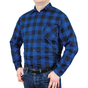 GRAPPA FLANNEL SHIRT BLUE L