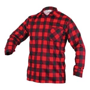 Koszula flanelowa, czerwona, rozmiar XL