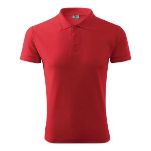 Koszulka polo MALFINI PIQUE, czerwona, rozmiar M