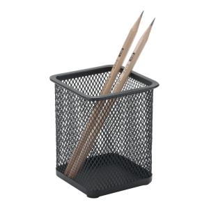 Pojemnik na długopisy, kwadratowy, czarny, kwadratowy