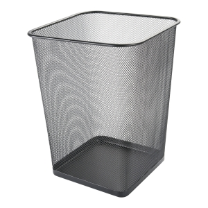 Q-CONNECT KF18471 WASTE BIN 12L MET BLK