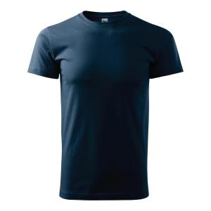 Koszulka MALFINI BASIC, granatowa, rozmiar L