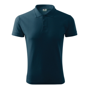 Koszulka polo ADLER POLO PIQUE, granatowa, rozmiar M
