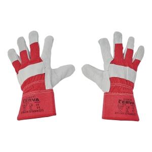 Rękawice skórzane CERVA Eider, czerwone, rozmiar 11, para