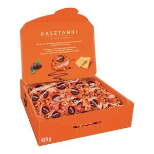 Cukierki Kasztanki WAWEL, kakowe z wafelkami, 430 g