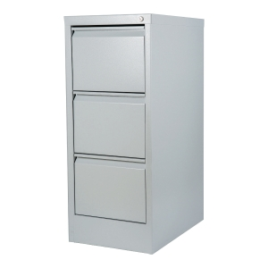 METALKAS 3-DRAWER FILING CABINET GRY