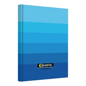 Brulion TOP2000 OMBRE A4, 96 kartek, niebieski