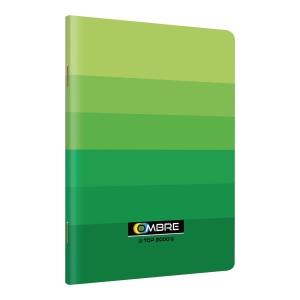 Zeszyt TOP2000 OMBRE A5, 60 kartek, zielony