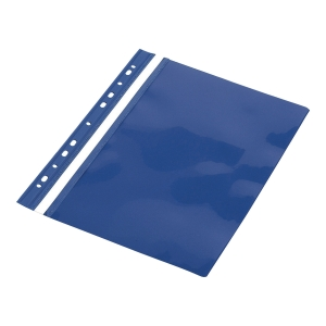 Skoroszyt PANTA PLAST, PCV, z europerforacją, A4, niebieski