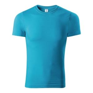 Koszulka T-shirt PICCOLIO PAINT P73, turkusowa, rozmiar XXL