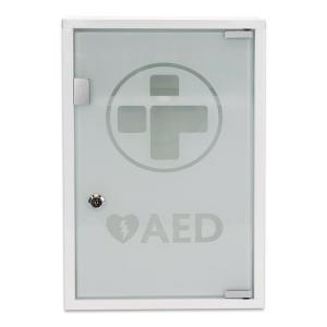 Aed Alarmed Metal W/Cabinet Glass Door