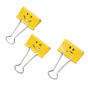 Rapesco 1351 Clips 19mm Black/Yellow Pack Of 20