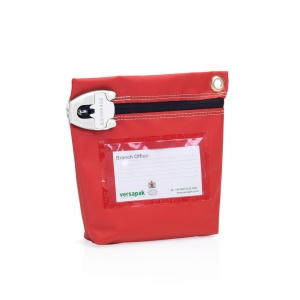 VERSAPAK HIGH SECURITY POUCH 152X178X50MM RED