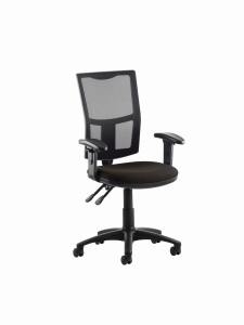 Origin Black High Back Mesh Chair With Arms