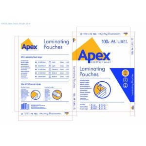BX100 APEX LAMIN POUCH LIGHT A4 SCOT P