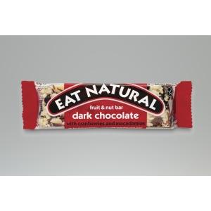 EAT NATURAL CRAN NUT CHOC CEREAL BAR 45G