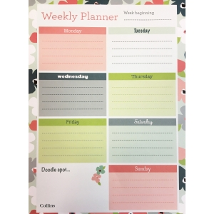 COLLINS WEEKLY DESK PLANNER BLOSSOM A4
