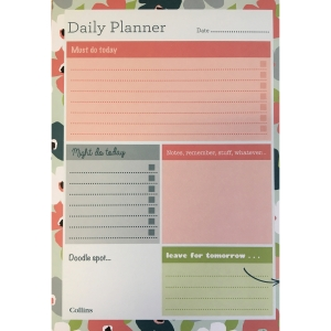 COLLINS DAILY DESK PLANNER BLOSSOM A5
