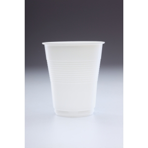 White Plastic Squat Vending Cup 7oz- Pack of 100
