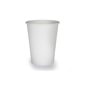 White Single Wall Hot Paper Cup 12oz- Pack of 50