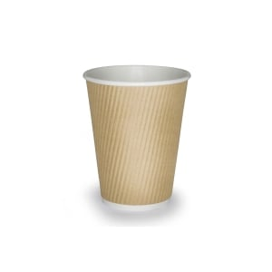 Kraft Ripple Wall Hot Cup 12oz- Pack of 25