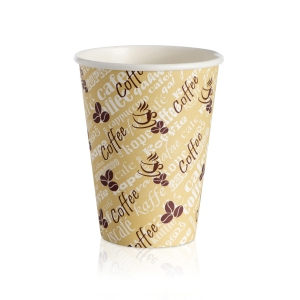 Red Bean Single Wall Hot Cup 12oz- Pack of 50