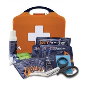 HSE BURNS FIRST AID KIT IN SMALL ORANGE AURA BOX