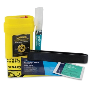 SHARPS CLEAN UP KIT SINGLE USE