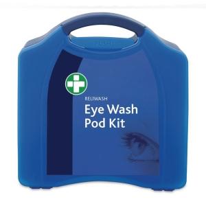 EYE WASH POD STATION IN LARGE BLUE AURA BOX