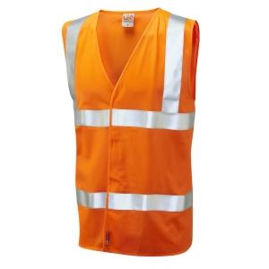 Leo W08 Waistcoat High-Vis Orange Size XXL