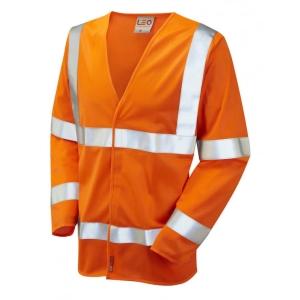 Leo S11 Waistcoat Long Sleeve High-Vis Orange Size Large
