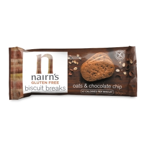 NAIRN GLUTEN FREE OATS AND CHOCOLATE CHIP BISCUITS- PACK OF 12
