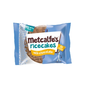 METCALFE S MILK CHOCOLATE RICECAKES- PACK OF 16