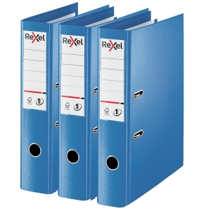 Rexel Choices Foolscap PP No.1 Lever Arch File 75mm, Spine, Blue