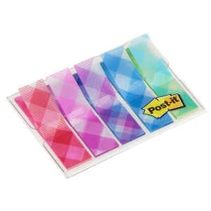 Post It 684-Pld5 Index Plaid Pack Of 5