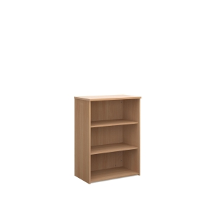 Universal Bookcase 1090mm High With 2 Shelves - Beech
