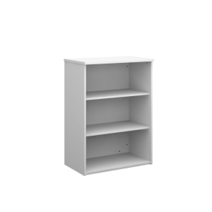 UNIVERSAL BOOKCASE 1090MM HIGH WITH 2 SHELVES - WHITE