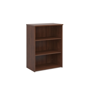 UNIVERSAL BOOKCASE 1090MM HIGH WITH 2 SHELVES - WALNUT