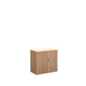 Universal Double Door Cupboard 740mm High With 1 Shelf - Beech