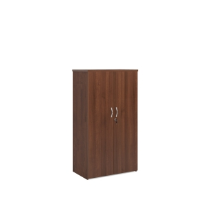 Universal Double Door Cupboard 1440mm High With 3 Shelves - Walnut