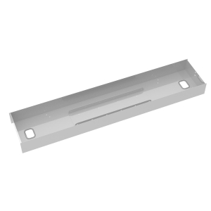 ELEV8 LOWER CABLE CHANNEL WITH COVER FOR BACK-TO-BACK 1200MM DESKS - SILVER